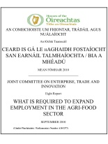 Arthur Morgan TD, Rapporteur: Joint Committee on Enterprise, Trade and Employment - What is Required to Expand Employment in the Agri-Food Sector -28 September, 2010