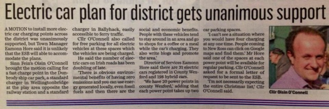 electric car plan for district gets unanimous support
